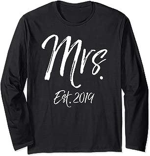 Matching Husband & Wife Wedding Gift Women's Mrs. Est. 2019 Long Sleeve T-Shirt