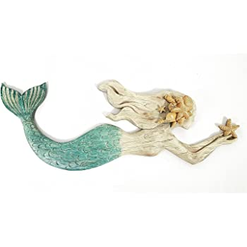Toysdone Swimming Mermaid Resin Wall Decor