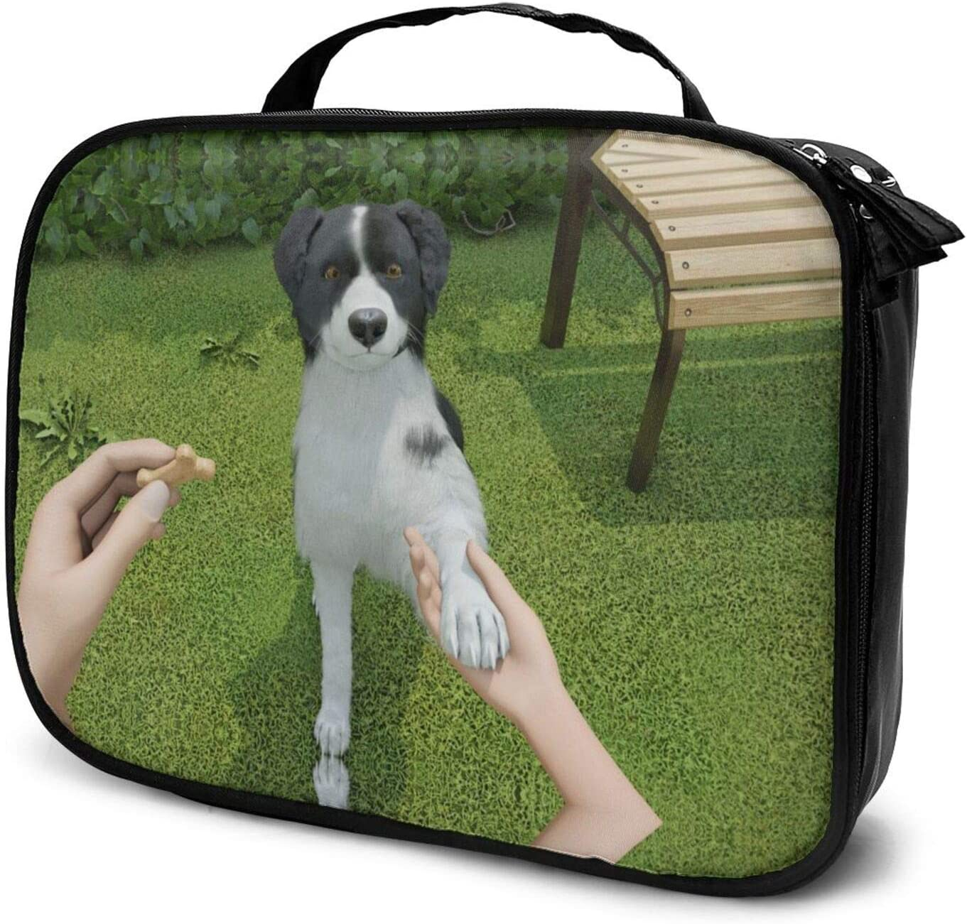 Shake Hands With New life The Dog Case Cosmeti Makeup Train Cheap super special price Travel
