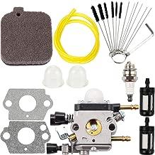 Dalom BG55 Carburetor + Carb Cleaner Cleaning Tool Air Filter Tune Up Kit Fit Stihl BG45 BG46 BG55 BG65 BG85 SH55 SH55C SH85 SH85C Leaf Blower Zama C1Q-S68G Carb String Trimmer Chainsaw