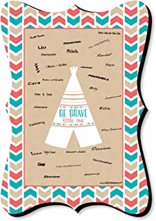 Be Brave Little One - Unique Alternative Guest Book - Boho Tribal Baby Shower or Birthday Party Signature Mat