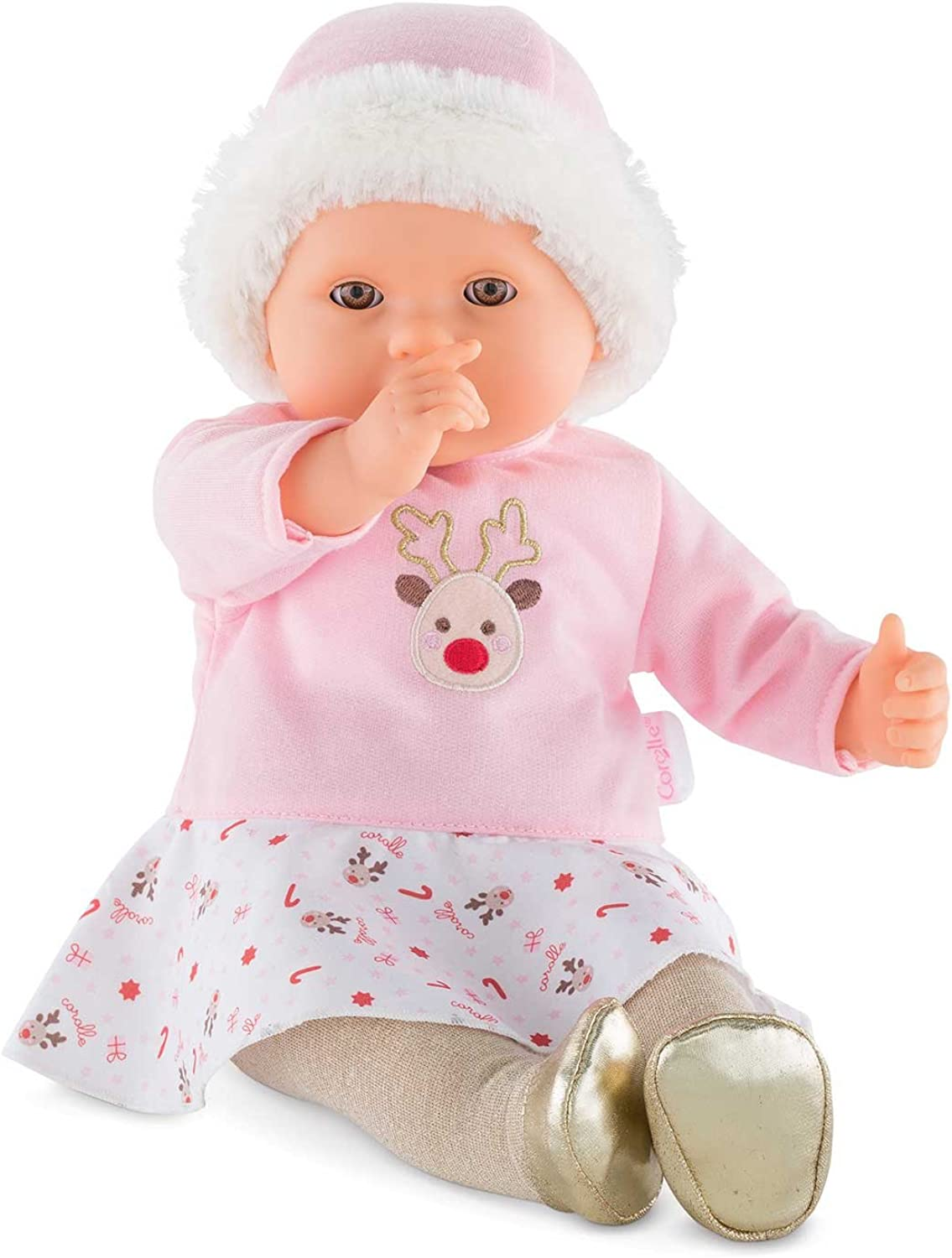Cgoldlle Mon Grand Poupon  My Large Baby Doll  Happy Reindeer, Pink