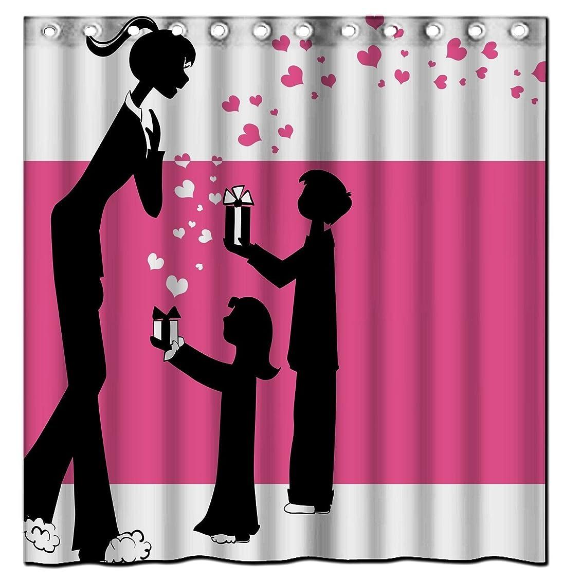 こどもの日カプラー隠母の日 プレゼント 防水 防カビ デザイン シャワーカーテン お風呂の窓用 目隠し洗面所 ユニットバス 間仕切り バスカーテン 取付簡単 180×180cm
