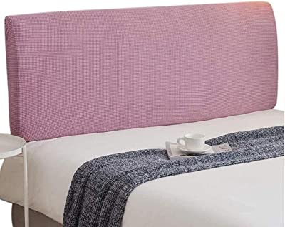 Solid Color Bed Headboard Cover Stretch Head Slipcover Protector Pink