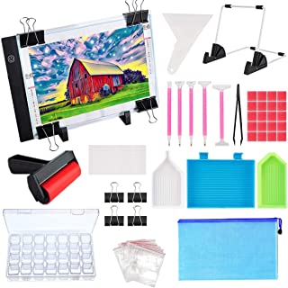 Diamond Painting A4 LED Light Pad Kit- Diamond Art Light Board with 5D Painting Tools, Apply to Full Drill & Partial Drill...