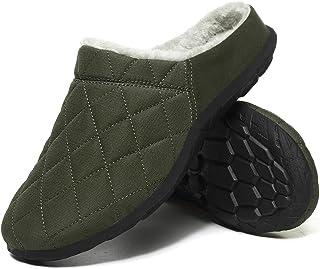 Donna Uomo Inverno Pantofole da Casa Caldo Peluche Ciabatte Interno Leggero Antiscivolo Scarpe Invernali da All'aperto