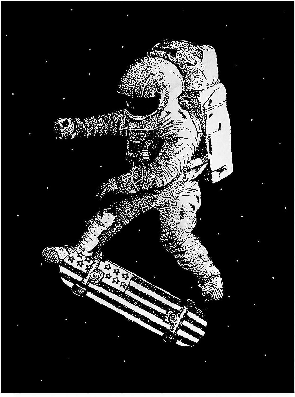Trademark Fine Art Kickflip in Space by Robert Farka, 14x19 Multiple