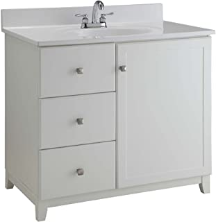 Design House 547141 Furniture-Style Vanity Cabinet, 30 21-inches, Semi-Gloss White, x 21 inches