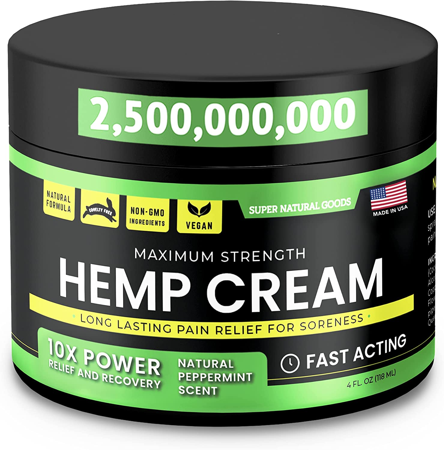 Hemp Cream Dedication - Made in USA 4 Arni Acting fl Spring new work one after another Fast oz with