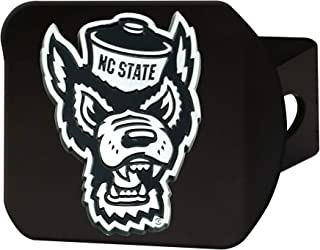 FANMATS NCAA North Carolina State Wolfpack Hitch Cover - Blackhitch Cover - Black, Team Colors, One Sized