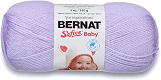 Bernat Softee Baby Yarn, 5 oz, Gauge 3 Light, Soft Lilac