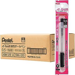 ぺんてる 油性ボールペン .eボール 0.5mm XBK125-A 黒 100本