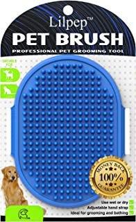 Dog grooming brush, Lilpep pet bath comb brush, which...