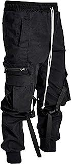 XYXIONGMAO Streetwear Techwear Hip Hop Harem Pants for Men Sports Casual Loose Overalls Multi-Pocket Hip-hop Trousers