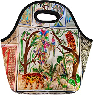Semtomn Lunch Bags Palenque Mexico Nov Pyrography Mexican Images As Sovenirs Neoprene Lunch Bag Lunchbox Tote Bag Portable Picnic Bag Cooler Bag