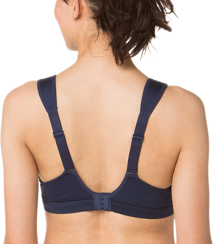 C-E Brooks Maia Back-Adjustable Medium-Impact Sports Bra Moving Comfort Asphalt//Black 32DD