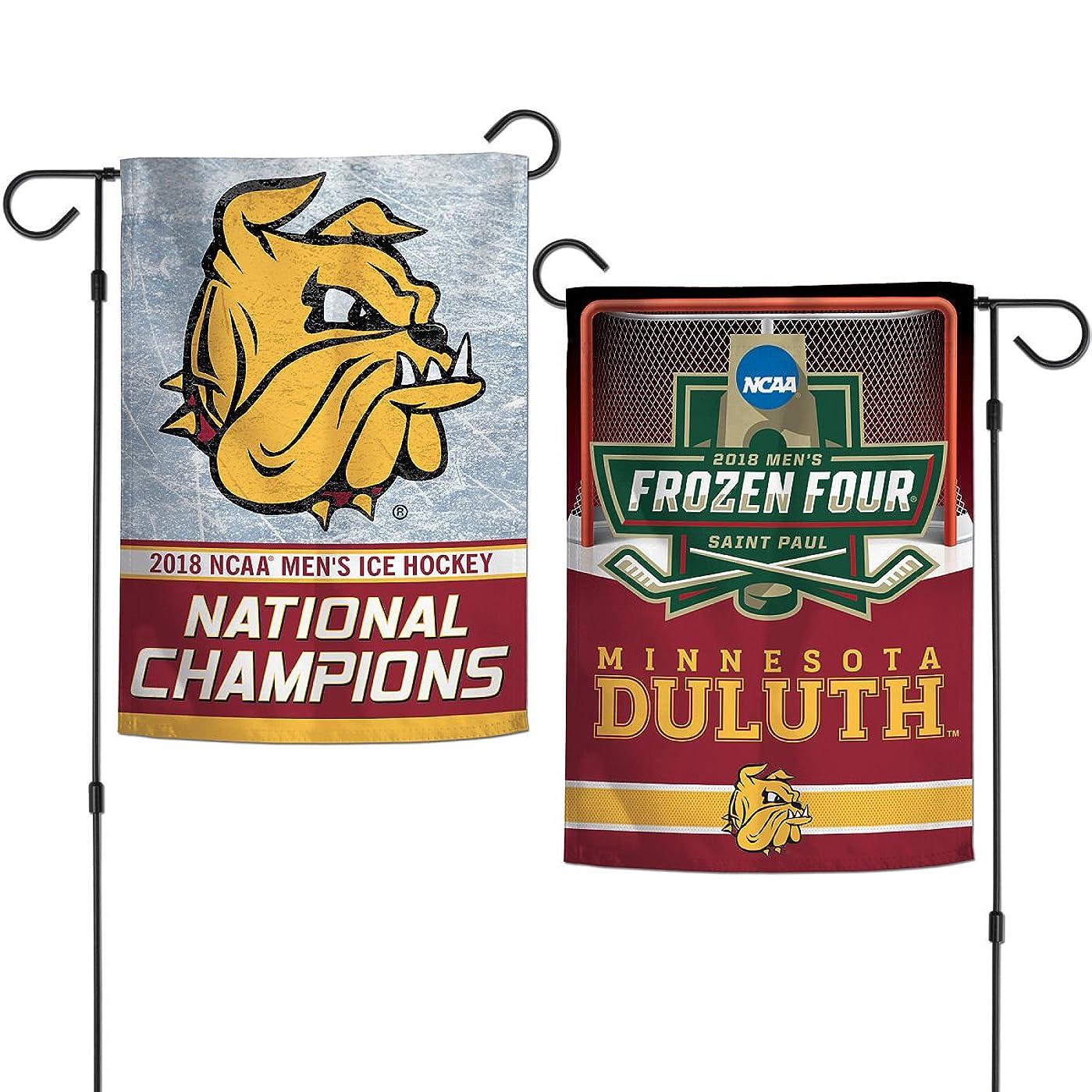 アクセスできない薬を飲むセーブUMD Bulldogs Mens Hockey National Champions両面ガーデンバナー