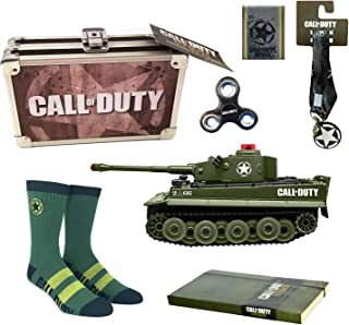 Call of Duty Ultimate Gift Loot Crate - Battle Tank, Supply Case, Green Socks, Journal, Wallet and Lanyard