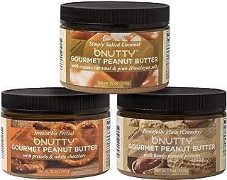 BNutty Sweet & Salty - 12 oz - 3 pack - Simply Salted Caramel, Irresistible Pretzel, Peacefully Plain Crunchy