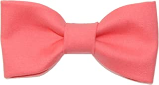 Toddler Boy 4T 5T Flamingo Pink Clip On Cotton Bow Tie