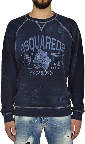 Dsquarouge2 Sweatshirt bleu - Taille L - nouveau