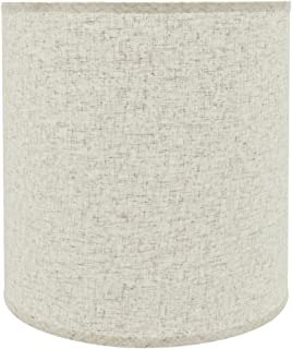 Aspen Creative 32531 Transitional Drum (Cylinder) Shaped Spider Construction Lamp Shade in Beige, 15