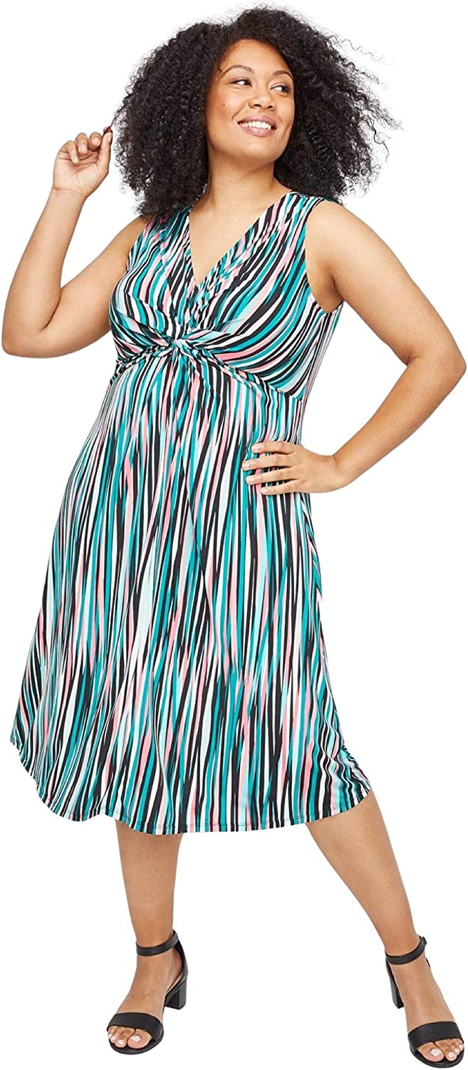 Catherines Women's 本店 Plus Size Paradise Fit 爆売りセール開催中 Dre Twist-Knot Flare