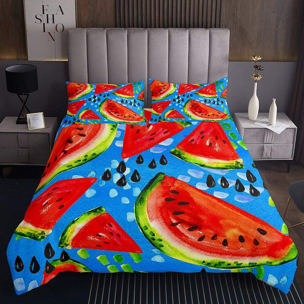 Watermelon Oil Painting Quilt Coverlet Super Seeds Max Ultra-Cheap Deals 71% OFF Set Colorful