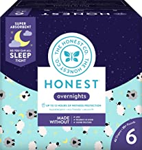 The Honest Company Overnight Sleepy Sheep Diapers   Sustainably Harvested and Plant-Derived Materials   Hypoallergenic   Size 6 (42 Count)