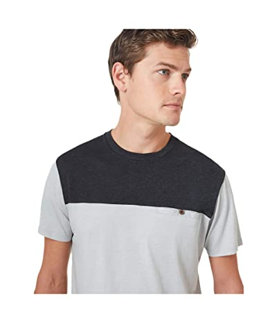 tentree Ketti T-Shirt (High-Rise Grey Heather/Meteorite Black Heather) Men