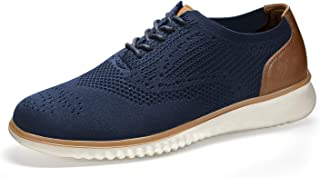 SEVEGO Men's Casual Dress Shoes Oxford, Lace-up Wingtip Leather Shoes, Lightweight Breathable Walking Shoes