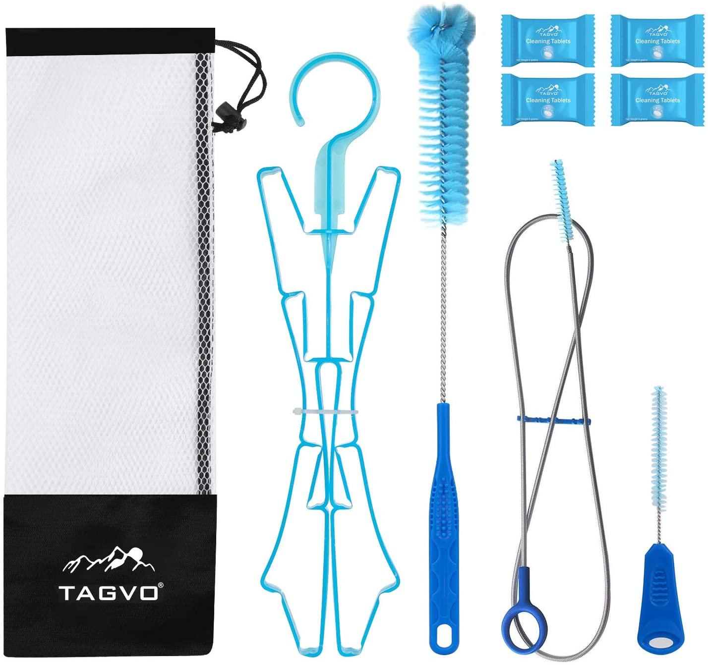 TAGVO Hydration Bladder Tube Brush Cleaning Kit Water 6 1 in shop Bl New York Mall