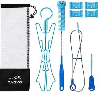 Best TAGVO Hydration Bladder Tube Brush Cleaning Kit for Universal Bladders, 4 in 1 Cleaner Set-Long Brush for Hose, Small Brush for Bite Valve, Big Brush for Bladder & Collapsible Hanger for Drying Review