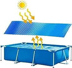 Cubierta Solar Azul De Lona Solar Para Piscina, Protector Solar Rectangular De Fácil Instalación, Cubierta Protectora De Piscina, Película De Aislamiento Térmico Para Piscina Interior Y Exterior