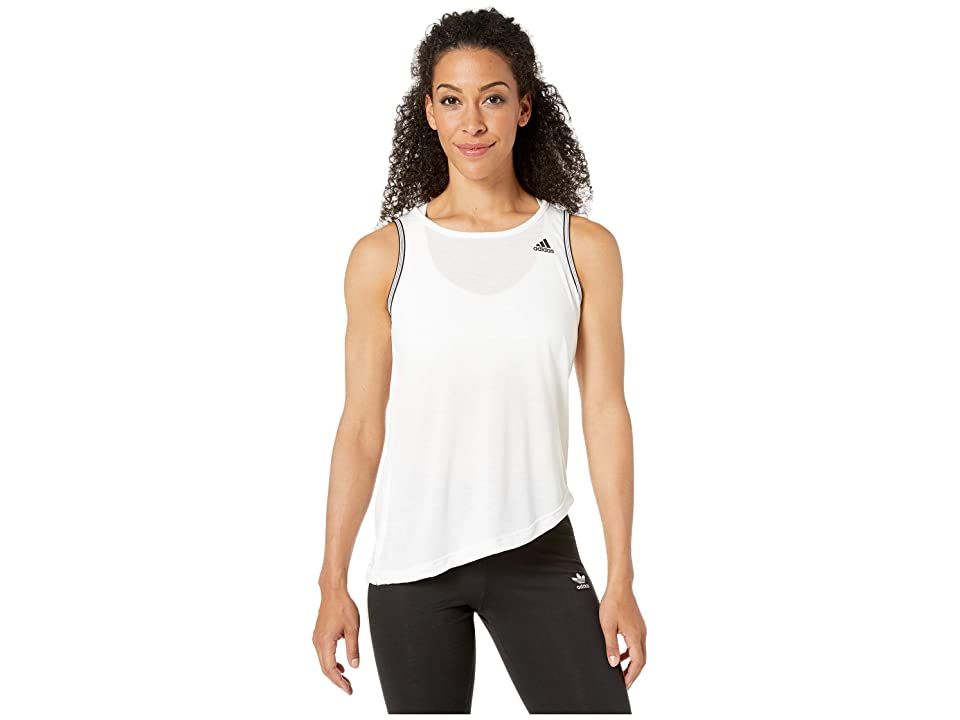 adidas All Me Novelty Bra Tank (White/Black) Women