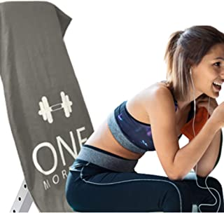 ONE More -Motivational Fitness Suede Microfibre XL Workout Towels for Gym Bench.Hood &Hanging Hook-Goes Over Gym Bench.Yog...
