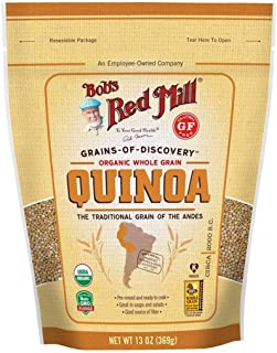 Bob's Red Mill Resealable Organic White Quinoa, 13 Ounce (Pack of 6)