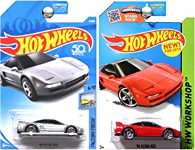 Hot Wheels 2018 2015 Factory Fresh 1990 Acura NSX Silver Red SET OF 2