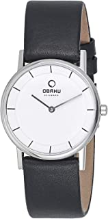 Obaku Women's White Dial Stainless Steel Band Watch - V143LCWRB