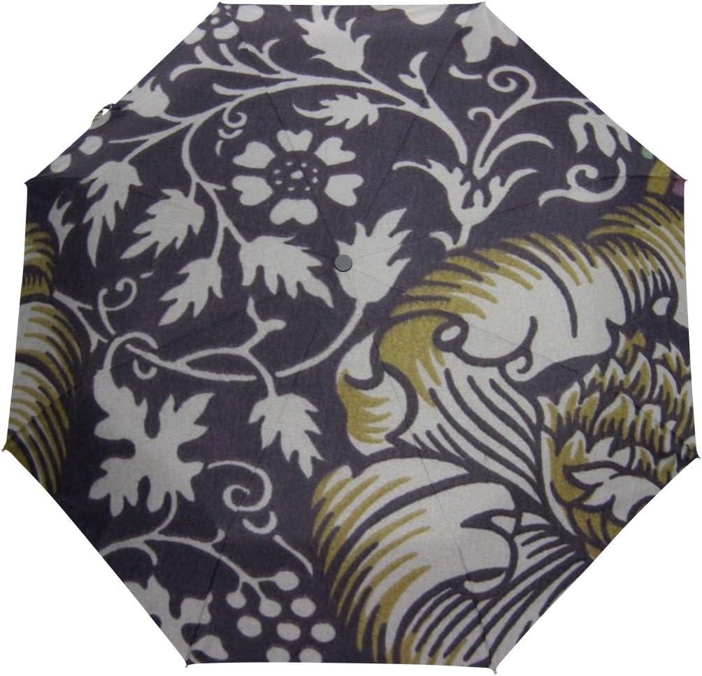 JSTEL Recommended William Morris Over item handling ☆ Prints Windproof Open Auto Clo Umbrellas UV