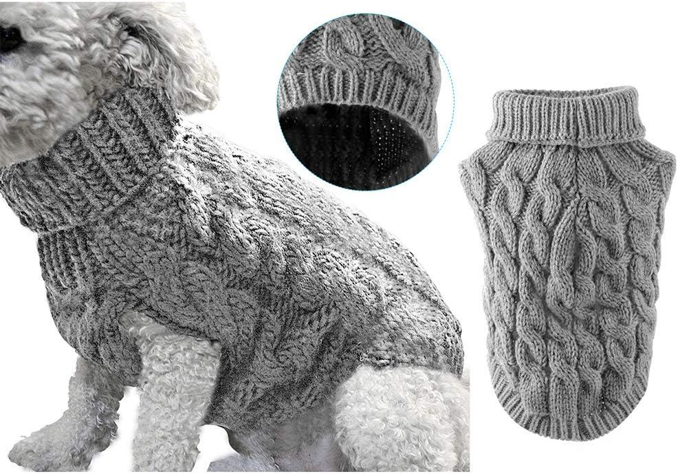 Pet Dog Turtleneck Knitting Sweater Thickenin Winter Ranking TOP8 Warmer Ranking TOP8 Coat