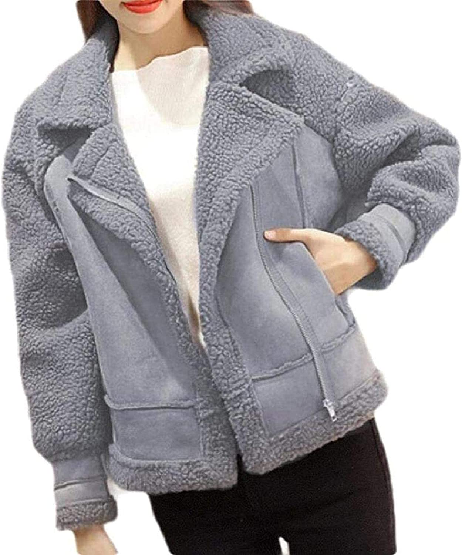 Outlet ☆ Free Shipping Women Long-Sleeve Coat Casual Fleece Ranking TOP2 Jacke Suede Lined Faux