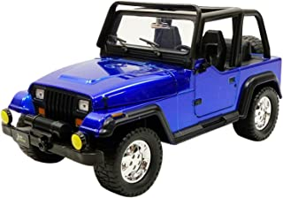 Jada 1992 Jeep Wrangler Metallic Blue 1/24 Diecast Model Car