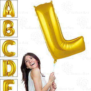 40 Inch Giant Jumbo Helium Glossy Gold Foil Mylar Balloons for Party Decorations, Letter L – Premium Quality, Durable & Reusable – Custom Messages – Graduation, Birthday, Anniversary, Bridal Shower