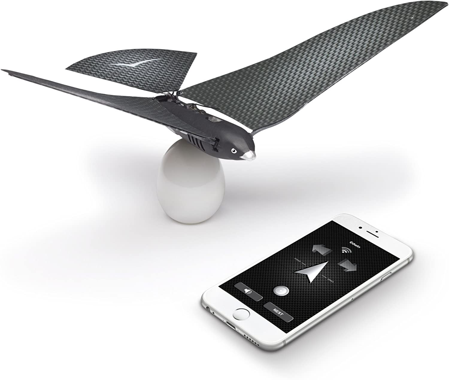 BIONICBIRD THE FLYING APP  PREMIUM PACKAGE  Smart Flying Robot + Egg Charger + Extra pair of wings