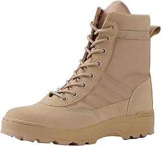 DFGRFN Bottes Tactiques Bottes de Combat légères Chaussures de randonnée en Cuir Sport Anti-dérapant Hauts Bottes du déser...