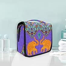 cosm/éticos para Viaje Maquillaje Neceser /étnico con dise/ño de Cachemira port/átil Kit de art/ículos de tocador Hunihuni Bolsa de Aseo para Mujer