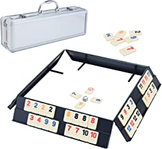 Ksamor Rummy Game Set - Colored Rummy Tiles Game with Durable Trays, Well Painted Rummy Cube 106 Tiles with Aluminum Case for Kids and Families