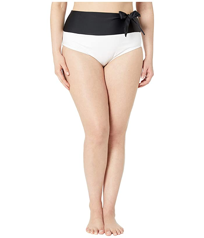 Unique Vintage Plus Size Frankie Swim Bottoms (Black/White) Women