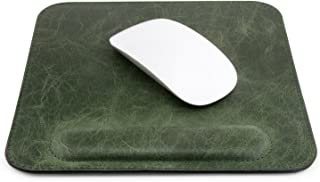 Londo Genuine Leather Mouse pad with Wrist Rest, Green